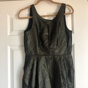 Club Monaco black and gold party dress size 6
